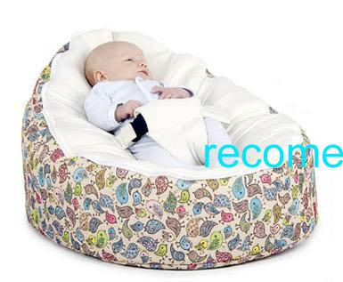 2017 Bird Design Baby Beanbag Chair Cream Top Infant Bean Bag