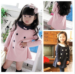 Wholesale Korean Girl Trading - Korean version of the 2017 foreign trade children's clothing girls bow double-breasted dress