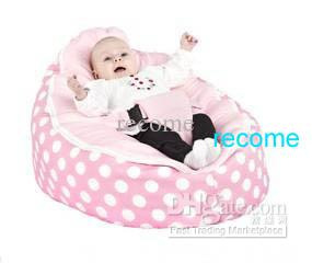 2018 Pink Polka Baby Beanbag Chair Infant Sleeping Bean Bag Sofa Beds Seat From Recome 1529