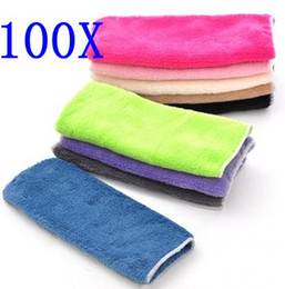 Wholesale Cotton Microfiber Rags - 30*24cm Microfiber Cleaning Cloth Microfiber Kitchen Towels Wiping Dust Rags Magic Quick Dry Dish