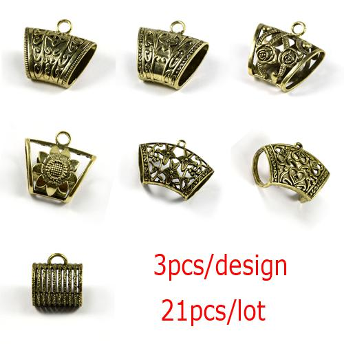 21PCS/LOT, Hot Jewelry Scarf Pendants Alloy Antique Bronze Slide Tube Charm, Free Shipping, ACMIX