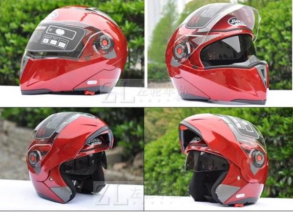 Color rojo JIEKAI 105 Unrape Open Face Casco para motocicleta, casco de motocross para moto Cascos MOTO Racing, M L XL XXL
