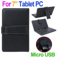 Wholesale Keyboards S3 - Micro Mini USB 7 inch Protective Leather Case Keyboard for Tablet PC Ainol PIPO S1 S3 Cube Sanei N77