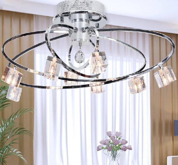 Moderne Mode Simple K9 Crystal Plafondlamp Kroonluchter Woonkamer Studieruimte Lamp