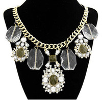 Hot New Arrival Fashion False Collar Necklace Statement Chain Diamante austríaco Swarovski Elements Colares de cristal Colar 3pcs / lot Fre