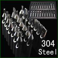 Wholesale Tattoo Tips Assorted - 304 Stainless Steel tattoo tips kits 22pcs Double arc WT001-1 mixed size