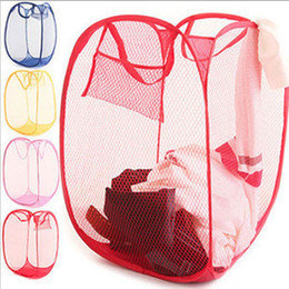 $enCountryForm.capitalKeyWord Canada - 20pcs Free Shippint Laundry Hamper Mesh Pop Up Collapsible Easy Open Bag Basket Foldable Travel Bag