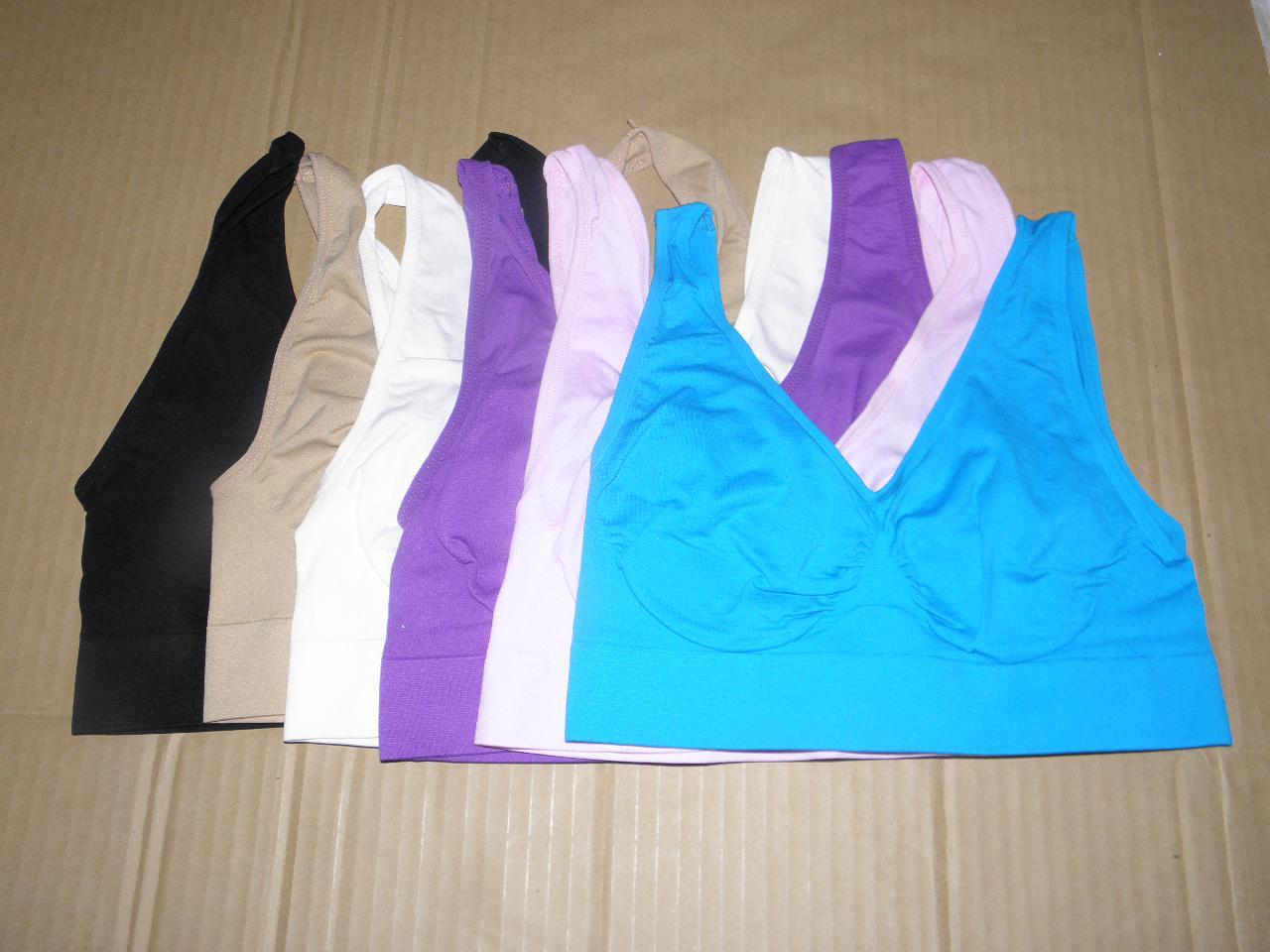 CPA! 1 X HOT Sexy Bra, Pullover senza cuciture / Scollo a V, Tracolle larghe / Comfort totale garantito