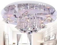 Modern Romantic LED K9 Crystal Ceiling Lamp Living Room Chan...