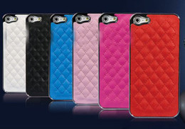 Wholesale Iphone Luxury Leather Chrome - Best 20pcs LOWEST PRICE!!!! Deluxe Luxury Leather Chrome Snap On Hard Case Cover for iPhone 5