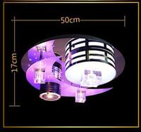 Modern Warm Romantic Art LED K9 Crystal Ceiling Lamp Chandel...