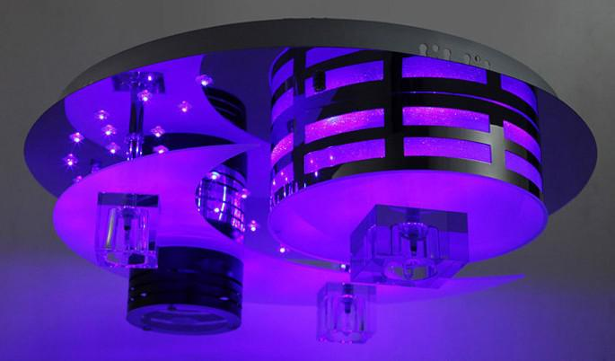 Moderno caldo romantico arte LED K9 cristallo lampada da soffitto lampadario luci telecomando dia 50 cm
