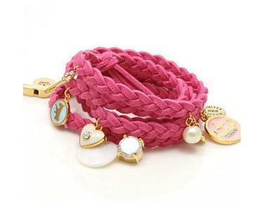 Multi-color selectie gevlochten lederen touw armbanden Multilayer multi hanger Korea Cashmere Bracele