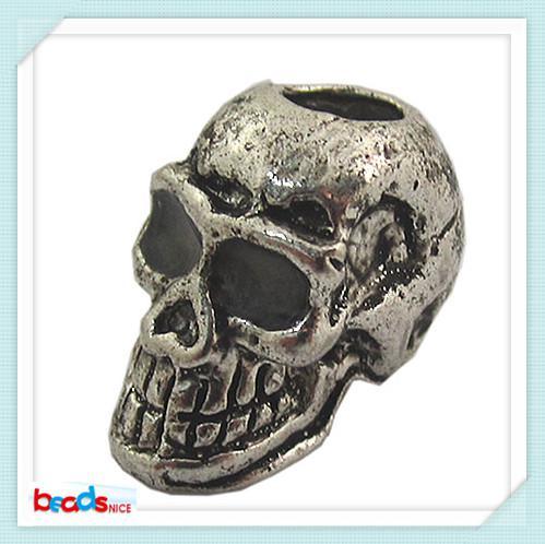 Beadsnice ID 26489 جودة عالية 9x11mm الجملة الخرز أزياء الجمجمة الخرز مكافحة الفضة والمجوهرات بالجملة الحرة الشحن
