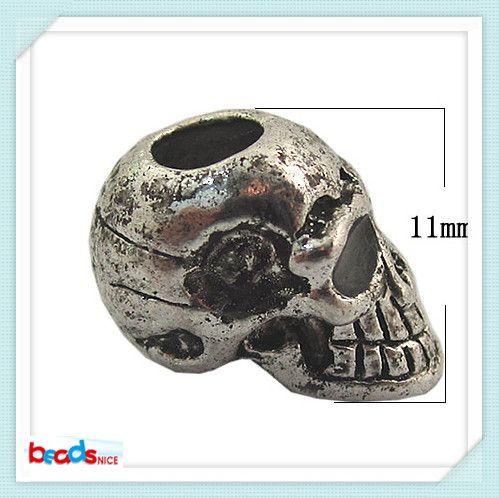 Beadsnice ID 26489 haute qualité 9x11mm en gros perles de mode perles de crâne anti-bijoux en argent en gros livraison gratuite