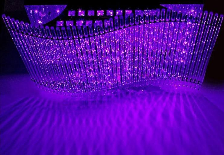 Moderne minimalistische LED K9 Crystal Rechthoekige plafondlamp Eetkamer Kroonluchter afstandsbediening Ligh