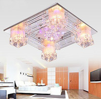 Wholesale Modern Warm And Romantic K9 Crystal LED Ceiling Lamp living Room Bedroom Chandelier