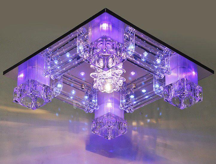 Modern Warm And Romantic K9 Crystal LED Ceiling Lamp living Room Bedroom Chandelier