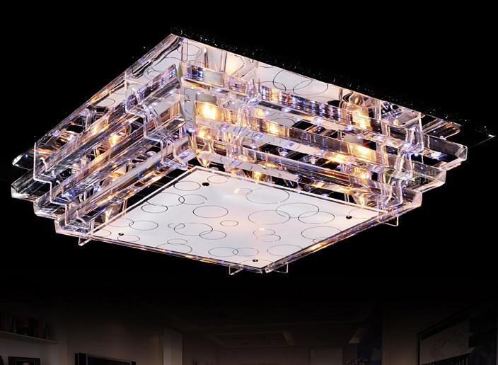 Moda Moderna de Vidro CONDUZIU a Lâmpada Do Teto Lustre Sala de estar Sala de Estudo Quarto Luz