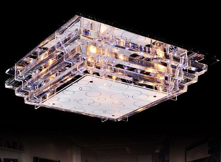 Modern Fashion Glass LED Ceiling Lamp Chandelier Living Room Study Room Bedroom Light