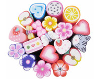 Wholesale Animal Fimo Canes - Nail Art Stickers Canes Stickers Rod Fimo Decorate Fruit Flower love animal mix multiple cutter