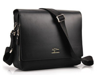 Wholesale Discount Leather Messenger Bags - Hot Sale Discount Shoulder Messenger Bag Men's Cross Body Briefcase PU Leahter Male Handbag brand Business bag ipad bag free shipping