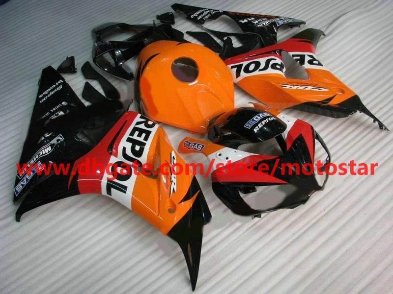 White orange REPSOL Injection fairings for HONDA 2007 CBR1000RR CBR 1000RR CBR1000 06 07