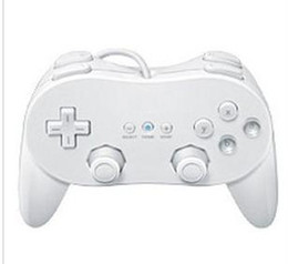 China Free Shipping 5 Pieces Lot New White Classic Pro Controller For Nintendo Wii Video Game Remote suppliers