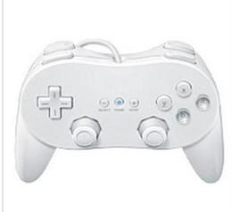 Бесплатная Доставка 5 Шт. / Лот Новый Белый Классический Pro Контроллер Для Nintendo Wii Видеоигры Дистанционного от Поставщики nintendo видеоигры