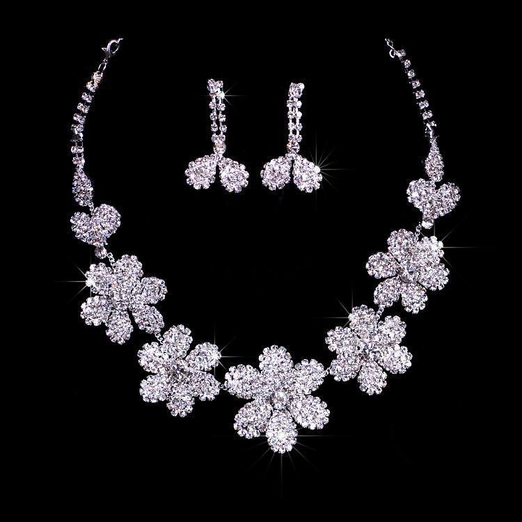 Pendientes de cristal floral centelleo Pendientes de pendientes de corona nupcial Tiaras Envío gratis