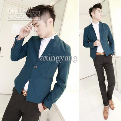 2018 Mens Clothing Casual Blazer Fashion Male Slim Blazer Short