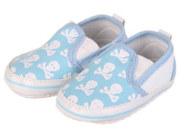 Wholesale Crocheted Casual Shoes - 15%off!*Printed uppers skull head*baby kids shoes casual shoes!6pairs 12pcs