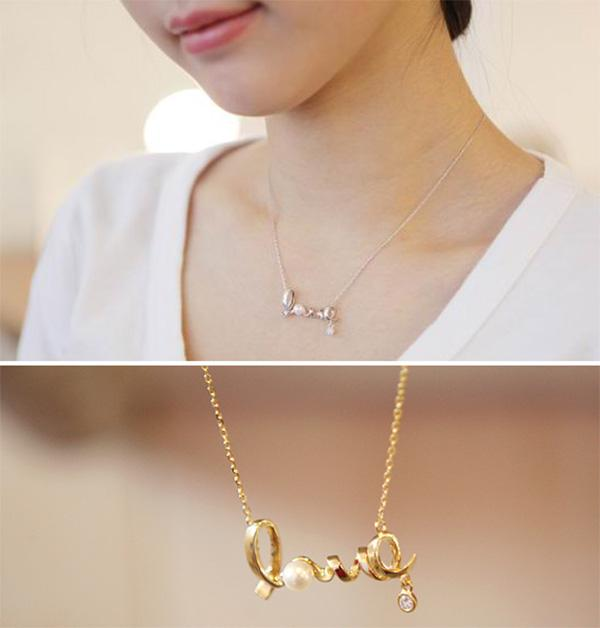 love letter pendant necklaces pearl chains heart shaped pendants sweater chain necklace heart necklaces gold name necklace from aixinjllj 3337 dhgate