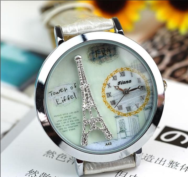 unique eiffel paris fashion from small watches product women window tower leather elegant ladies dress analog fine miracal wriswatch