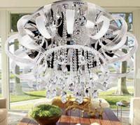 Modern Mediterranean Romantic K9 Crystal Ceiling Lamp Chande...