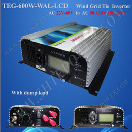 Wholesale Inverter Tie Wind - Free Shipping 600W Wind Turbine Grid Tie Inverter AC input,built-in dump load controller factory