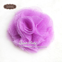 """Wholesale Tulle Rosettes Wholesale - 2"""" Mesh Flowers Tulle Rosette Flower Hair Clip Mini Hair Flowers with Clip Photography Props 240PCS LOT QueenBaby"""