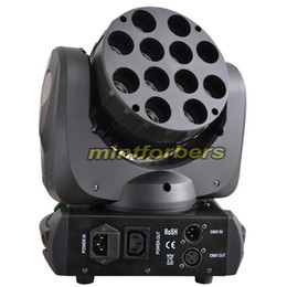 Wholesale Moving Led Wash - LED moving head light Beam wash light with 12pcs 10w RGBW 4in1 quad color Stage Lighting