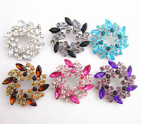 Crystal Round Flower Wreath Broche Delicate Diamante Flower Wedding Jewelry Bouquet Pin Hot Selling Wholesale Broaches