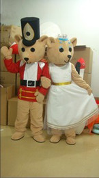 Wholesale Wholesale Plus Size Mascot Costumes - Men's and women's teddy bear mascot costume Adult Size a pair!Free shipping