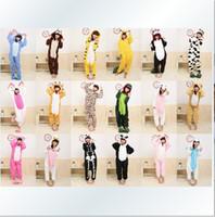 Wholesale Pyjama Coral Fleece - Promotion ! ! ! New Adult Kigurumi Pajamas Animal Pyjamas Cosplay Costume Coral Fleece Animal Sleepwear styles free shipping