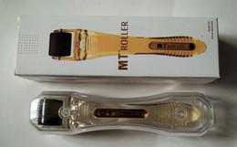 Micro Derma Roller Needle Size Canada - MT Titainium micro needle derma roller different size for skin care, black head dermarollerfor skin beauty.