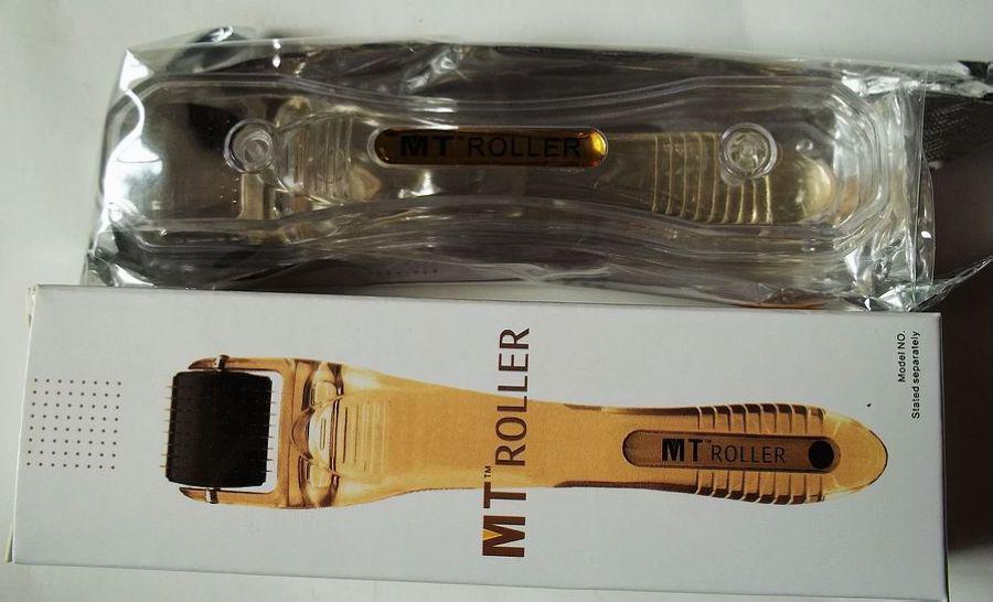 MT Titainium aguja micro derma roller negro cabeza para el cuidado de la piel, dermaroller a todo el mundo