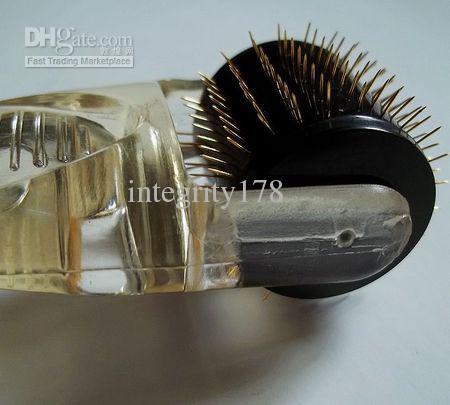 MT Titainium micro aguja derma rodillo negro cabeza de diferentes tamaños para el cuidado de la piel, 20 unids / lote