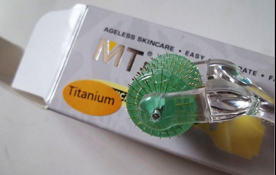 nouveau rouleau de derma d'aiguille d'alliage titanique d'alliage de titane MT 192 de / titane dermaroller, rouleau de 192 aiguilles pour la beauté de la peau.