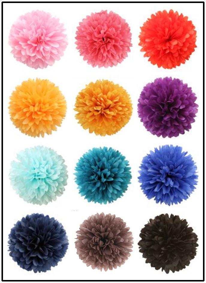 2018 8 inch 20cm tissue paper pom poms wedding party decor for Where to buy pom poms for crafts
