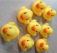 Wholesale Duck Float - Wholesale mini Rubber duck bath duck Pvc duck with sound Floating Duck 200pcs lot Fast delivery Free