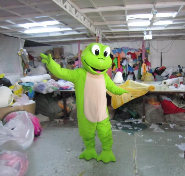 costume adulto del fumetto del costume animale del costume della mascotte della rana della peluche di verde trasporto libero
