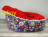 Wholesale Doomoo Bean Bag Sofa Seat - Free shipping colored dots with red seat baby beanbag chair, original harness doomoo bean bag sofa