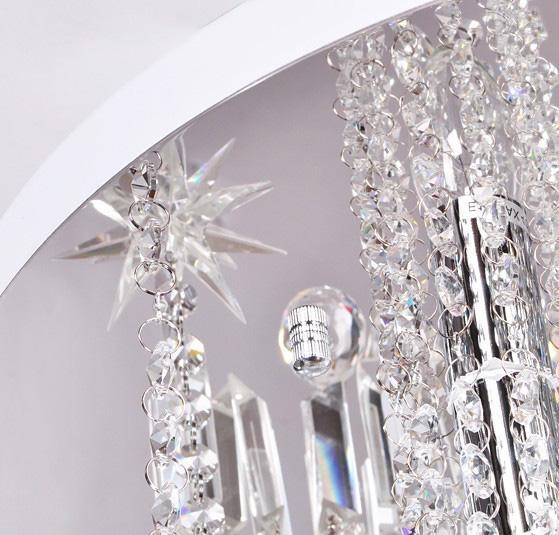 Moderna moda romantica K9 cristallo lampada da soffitto soggiorno camera da letto lampadario diametro 45 cm